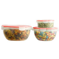 Rebrilliant Round 6 Container Food Storage Set with Lid