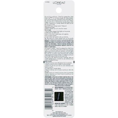L'Oreal Paris Brow Stylist® Frame & Set Cream Pomade 215 Deep Brunette 0.08 oz. Carded Pack