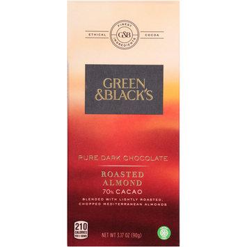 Green & Black's Roasted Almond 70% Cacao Pure Dark Chocolate 3.17 oz. Bars