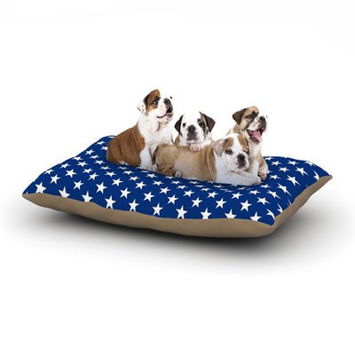 East Urban Home Bruce Stanfield 'Red Star' Dog Pillow with Fleece Cozy Top Size: Large (50