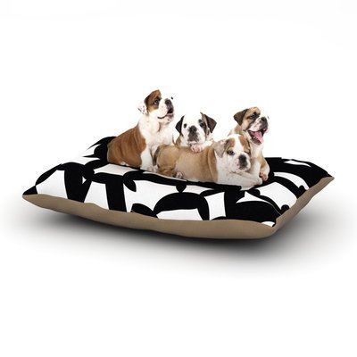 East Urban Home Gabriela Fuente 'Geo Chic' Dog Pillow with Fleece Cozy Top Size: Large (50