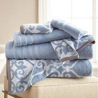 Alcott Hill Lattice Rod 6 Piece Towel Set Color: Blue