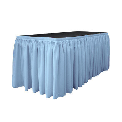 La Linen Table Skirt Color: Light Blue