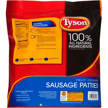 Tyson® Fully Cooked Sausage Patties 64 oz. Bag