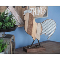 Cole & Grey Metal/Wood Rooster Figurine