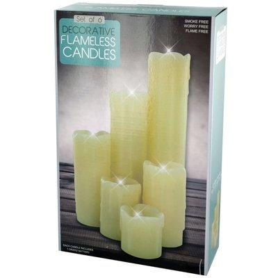 Andover Mills 6 Piece Decorative Flameless Pillar Candles Set