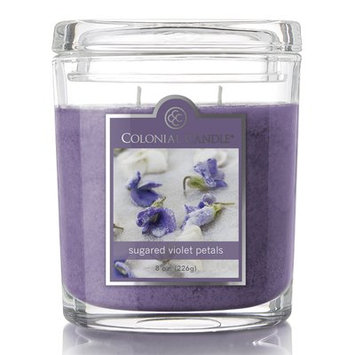Colonial Candle Oval Sugared Violet Petals Scent Jar Candle