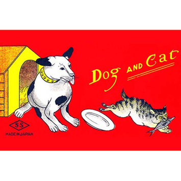 Buyenlarge 'Dog and Cat' Wall Art Size: 66