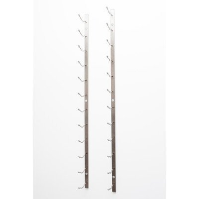 Vintageview Wall Series 21 Bottle Wall Mounted Wine Bottle Rack Finish: Brushed Nickel