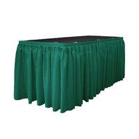 La Linen Table Skirt Color: Teal