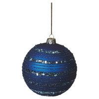Cbk Cobalt Blue Glitter Ball Ornament