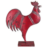 Foreside Home & Garden Metal Rooster Figurine