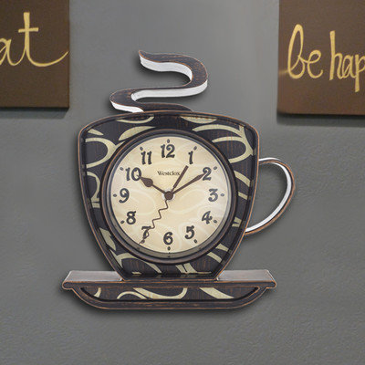 Zipcode Design Coffee Mug Wall Clock