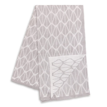 Farallon Brands The Peanut Shell Grey and White Reversible Bamboo Blanket