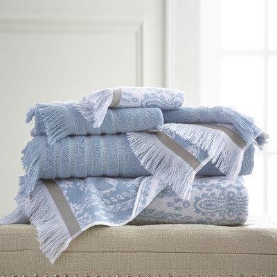 Bungalow Rose Jaipur 6 Piece Towel Set Color: Blue