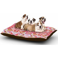 East Urban Home Carolyn Greifeld 'Floral Reflections' Dog Pillow with Fleece Cozy Top