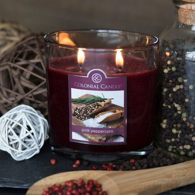 Colonial Candle CC008.5200 8 oz Pink Peppercorn Oval Jar Candle - Pack of 4
