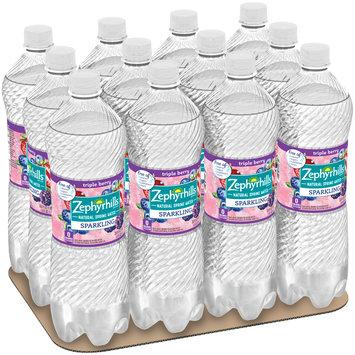 ZEPHYRHILLS Sparkling Natural Spring Water Triple Berry 1L Bottle (Pack of 12)