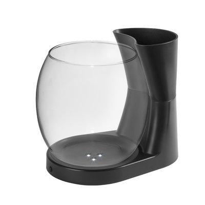 Eliv 0.75 Gallon Betta Planter Aquarium Bowl Color: Black
