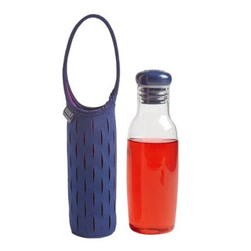 Built Glass Water Bottle with Neoprene Carrying Sleeve, 17 oz - Navy