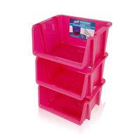 Rebrilliant Stack 'Ems- Stackable Storage Bin Color: Pink