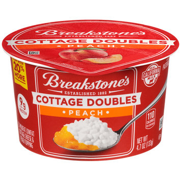 Breakstone's Cottage Doubles Cottage Cheese & Peach Topping 4.7 oz. Tub