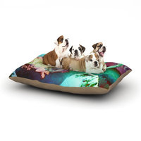 East Urban Home aly Zen Moonshadow 'Mad Hatters T-Party VI' Dog Pillow with Fleece Cozy Top Size: Small (40