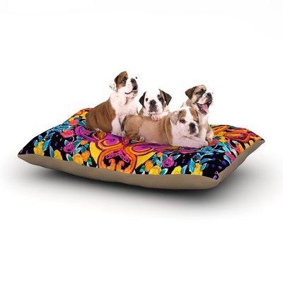 East Urban Home Nikki Strange 'Paisley Garden' Wam Dog Pillow with Fleece Cozy Top Size: Small (40