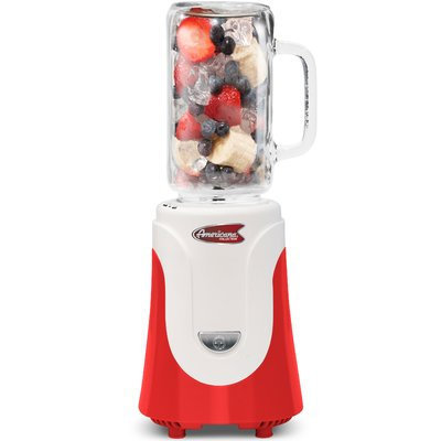 Elite By Maxi-matic Americana Glass Personal Drink Blender Color: Red