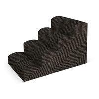 Pura Naturals Pet Fabric Pet Stair Color: Dark Brown