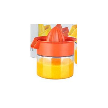 Home Basics Glass Juicer Color: Orange