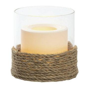 Gracie Oaks Pillar Unscented Wax Candle Size: 4