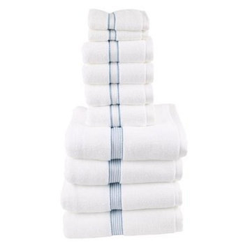 Fabbrica Home Classic Dobby 10 Piece Towel Set Color: Slate Blue