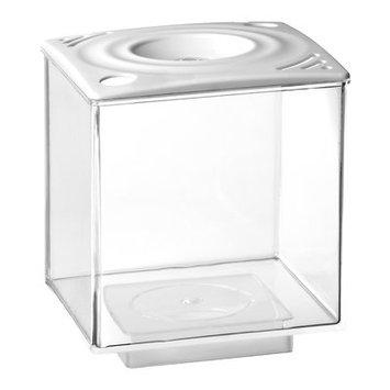 Eliv 0.75 Gallon Betta Cube Aquarium Tank Color: White