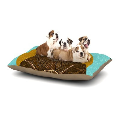 East Urban Home Art Love Passion 'Bear in Grass' Dog Pillow with Fleece Cozy Top Size: Small (40