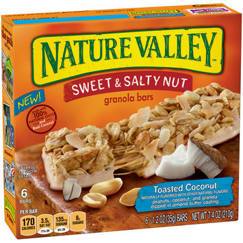 Nature Valley™ Toasted Coconut Sweet & Salty Nut Granola Bars 6 ct Box