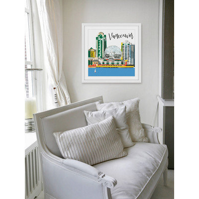 Marmont Hill Inc Marmont Hill - 'Vancouver Lakeview' by Molly Rosner Framed Painting Print