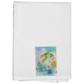 Betsy Drake Interiors Flower Wreath Hand Towel