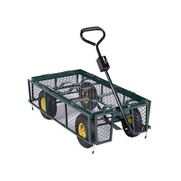 Aleko Products Farm and Ranch Heavy Duty Removable Steel Mesh Sides Cart
