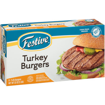 Festive™ 1/4 lb. Turkey Burgers 8 ct Box