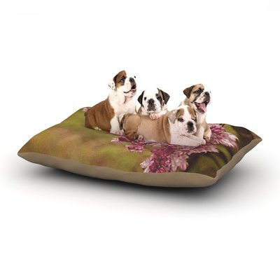 East Urban Home Angie Turner 'Lilacs' Flower Dog Pillow with Fleece Cozy Top Size: Large (50