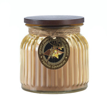 Koehlerhomedecor Vanilla Cinnamon Ribbed Jar Candle