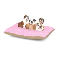 East Urban Home Heidi Jennings 'Hugs & Kisses' Dog Pillow with Fleece Cozy Top Size: Large (50