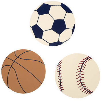NoJo Play Ball 3-Piece Wall Art