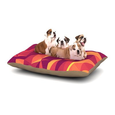 East Urban Home Strawberringo 'Abstract Mountains' Abstract Dog Pillow with Fleece Cozy Top Size: Large (50