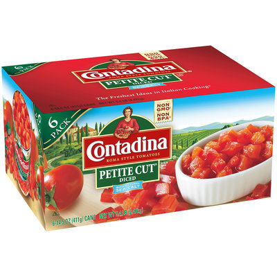 Contadina® Petite Cut® Diced Roma Style Tomatoes 6-14.5 oz. Can
