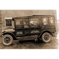 Buyenlarge 'Harry H. Redfearn & Co. Delivery Truck - Good Luck Evaporated Milk & Cheese' Photographic Print Size: 66