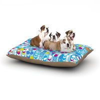 East Urban Home Frederic Levy-Hadida 'Color Hiving' Abstract Dog Pillow with Fleece Cozy Top Size: Small (40