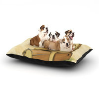 East Urban Home Matthew Reid 'In All the While' Dog Pillow with Fleece Cozy Top Size: Small (40