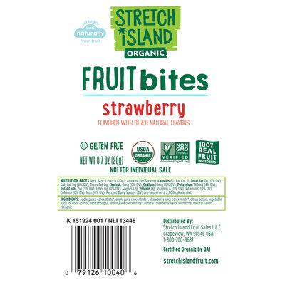 Stretch Island® Organic Strawberry Fruit Bites .7 oz. Pouch